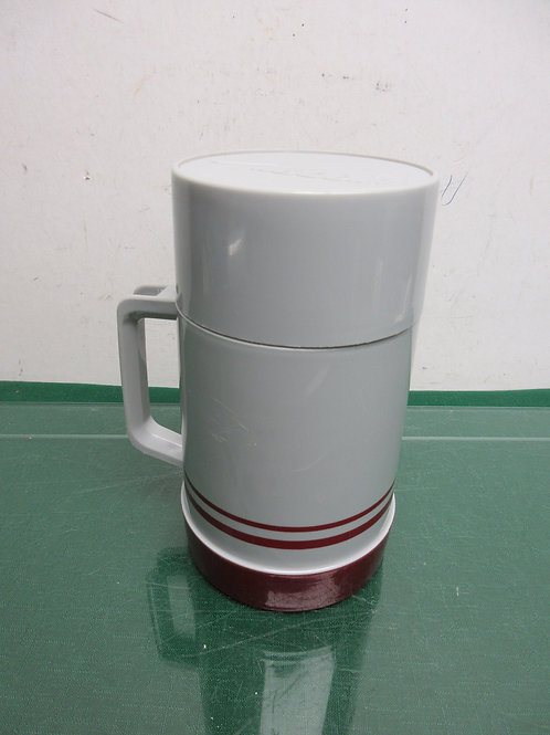 Aladdin wide mouth gray and burgundy thermos