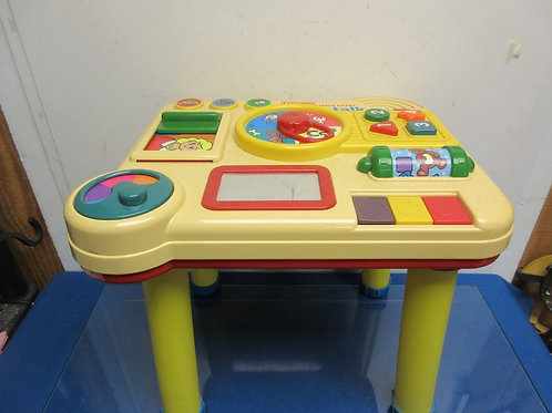 Vintage v-tech little smart table talk with 4 yellow legs
