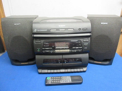 Sony am/fm radio cd player with 2 speakers