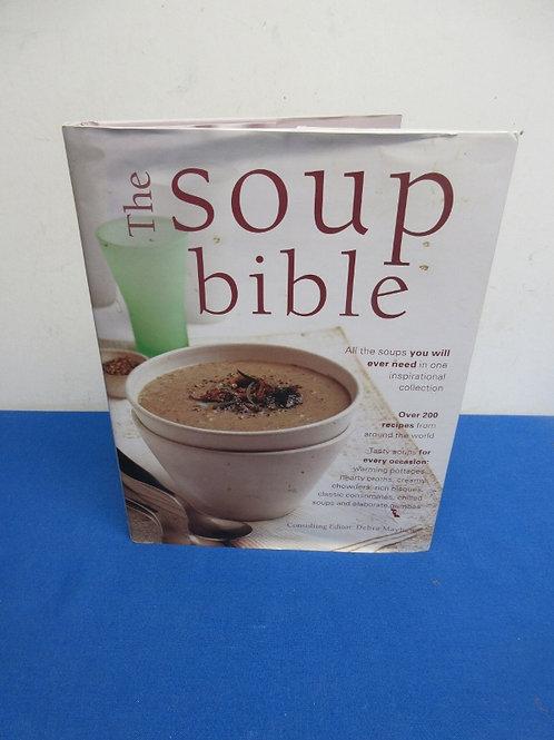 Hardback cookbook, the soup bible