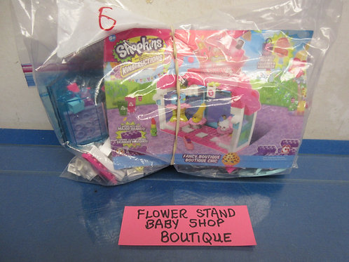 Shopkins Kinstructions set, flower stand, baby shop, boutique,w/instructions