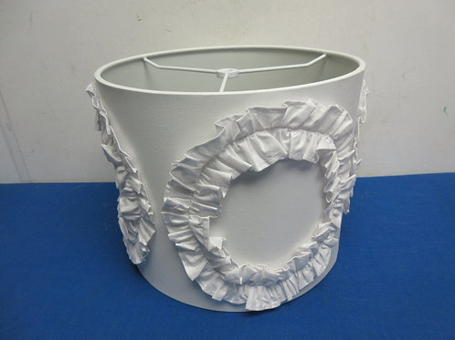 round white lamp shade with circular ruffle accent