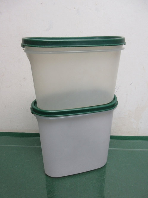 Tupperware 2pc set of small oblong containers