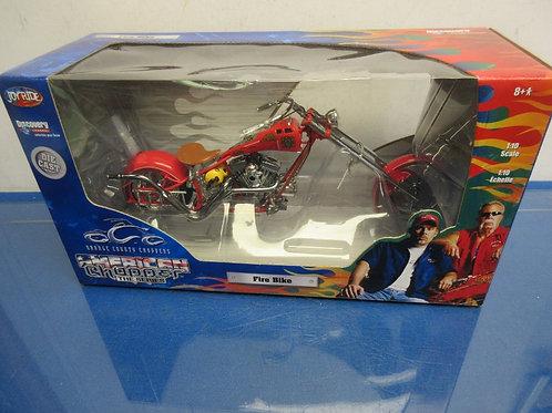 American Chopper fire bike die cast motorcycle New in box