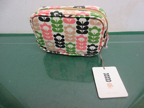 Oria Kiely multicolored cosmetic bag, New, Tag is still on