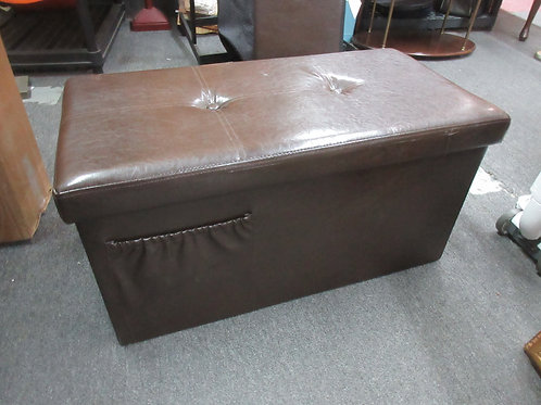 "Brown vinyl folding storage box 16x30x15""high"