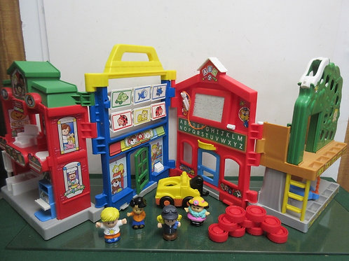 Fisher Price Little People folding learn about town play set, vehicle and more