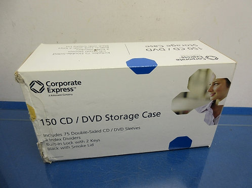 CD/DVD storage case, 75 sleeves included, case has lock