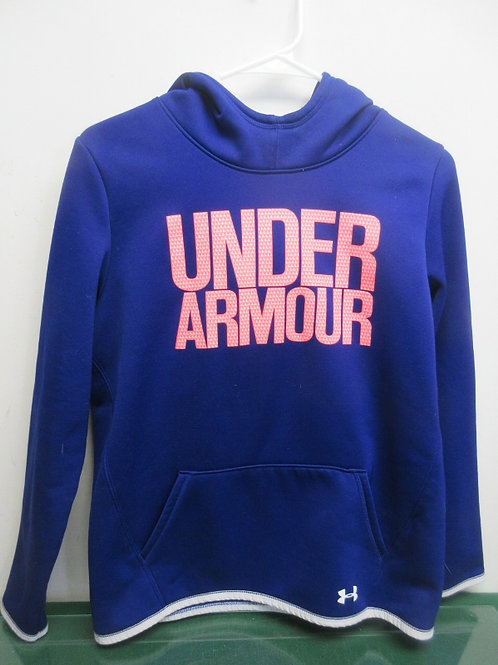 Under Armour youth XL color gear navy blue hoodie