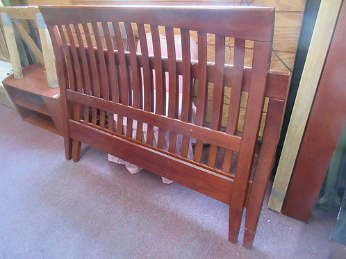 Cherry mission style Full sleigh bed headboard/footboard/side rails/wood slats