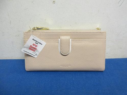 Light tan RFID security ladies wallet, New