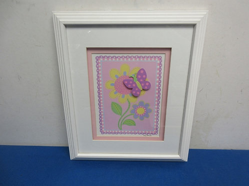 Pink & purple floral &butterfl print, 12x14