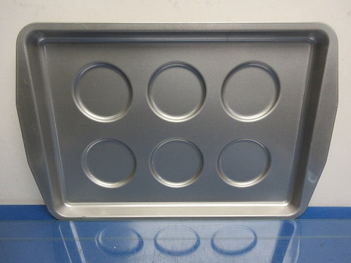 Heavy aluminum muffin top pan, New