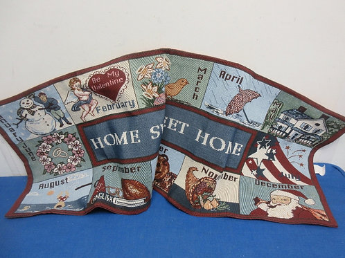 """Tapestry """"Home Sweet Home"""" table runner, 13x36"""