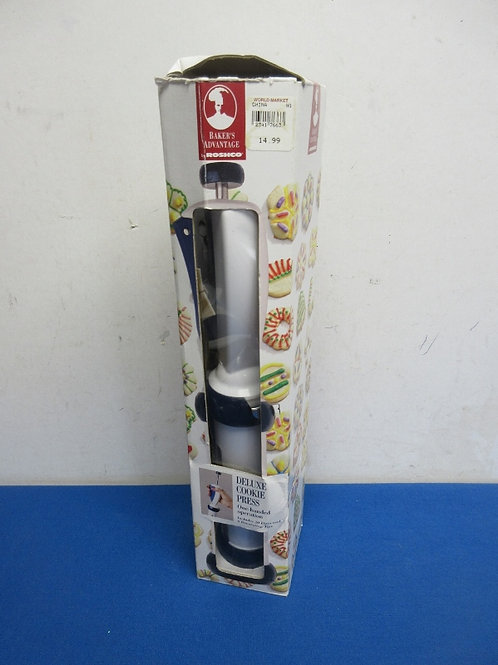 Baker's Advantage by Roshco deluxe cookie press - one-hand operation