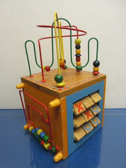 Child's wooden 5 sided activity cube