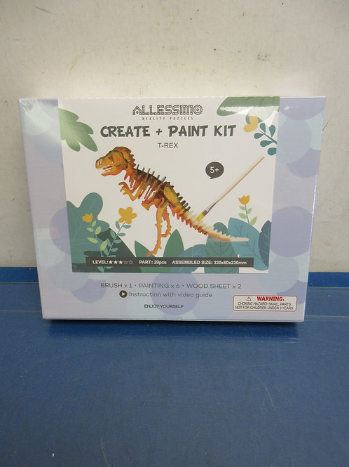 Allessimo create and paint kit, dinosaur - ages 5 & up, New, sealed