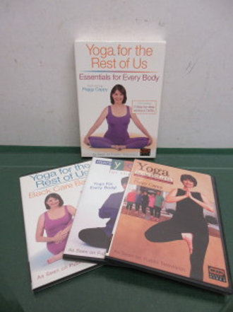 Yoga for the rest of us, 3 step by step workout DVDs in case