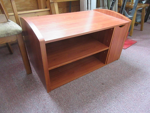 Medium tone low TV stand with 2 shelves and one DVD drawers-20x34-19""