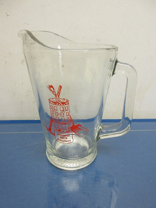 Heavy glass pitcher