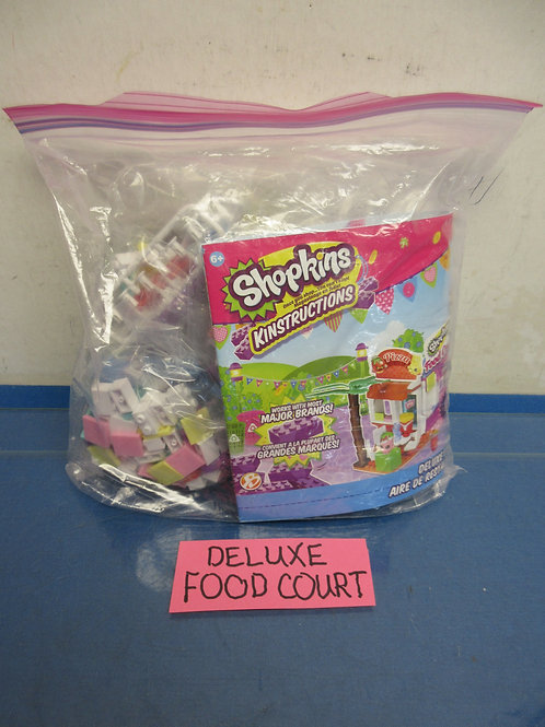 Shopkins Kinstruction set-Deluxe food court w/instructions