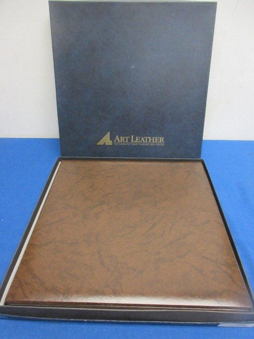 Pair of art leather 6 picture photo albums
