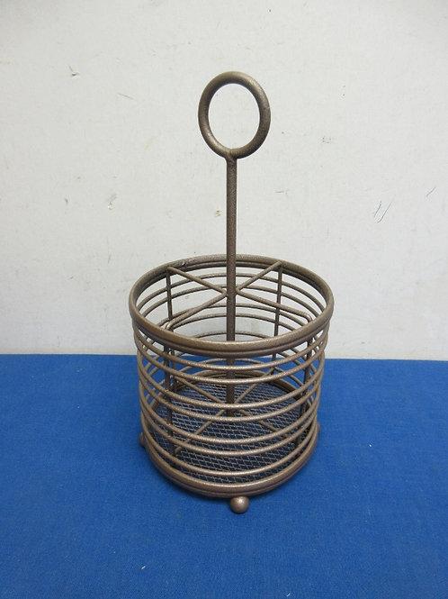 Copper metal utensil holder