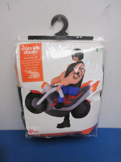 """Inflatable costume, """"Ride on Biker""""  child size"""