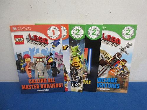Set of 5 Lego beginner reading books