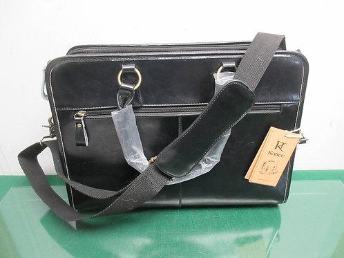 Kattee genuine leather laptop/briefcase -black-BrandNew