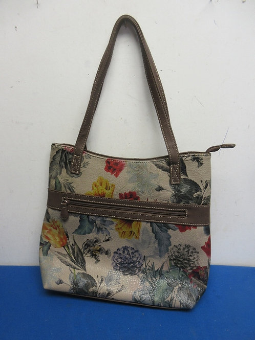 Alfred Dunner floral faux leather purse
