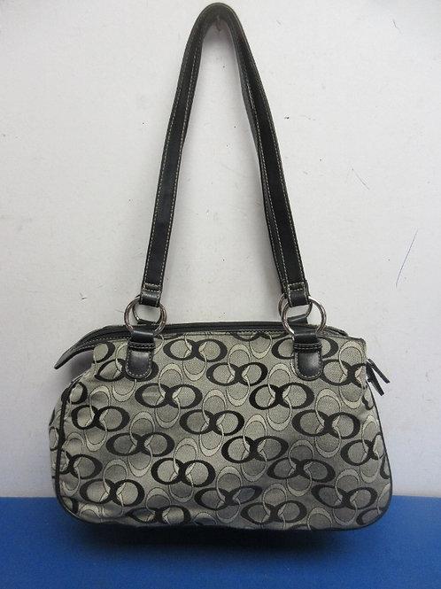 Coach black & white purse