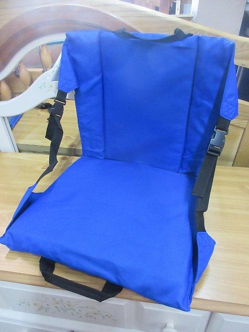Folding cloth stadium seat with back, 2 available