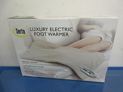 "Serta 35x20"" plush electric foot warmer, Ivory"