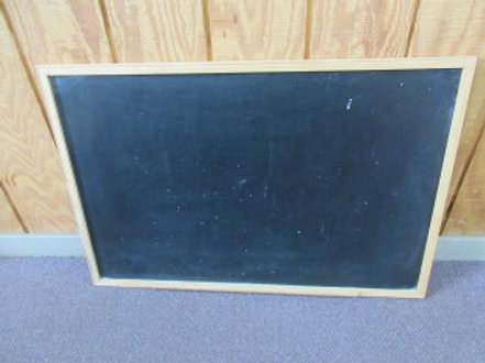 Wood framed chalkboard with tray for chalk 36x24