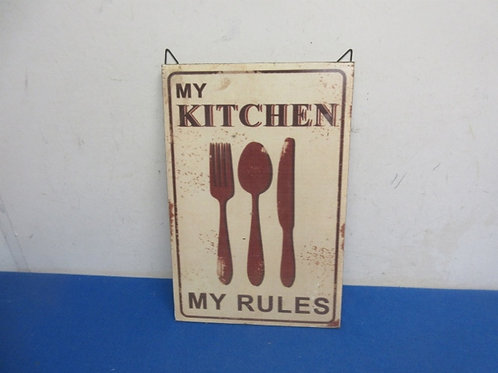 """""""My kitchen rules"""" 8x12 wall hanging"""
