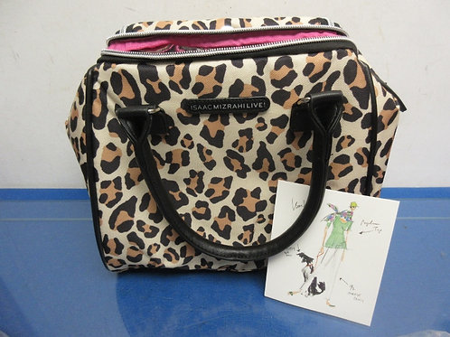Isaac Mizrahi Live! Leopard print insulated meal carrier