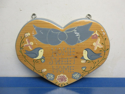 "Country wood heart wall hanging - ""home sweet home"""