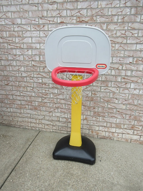 Little Tikes basketball hoop filled with sand - no ball included