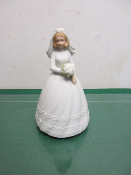 "Christopher collection musical 7"" bride statue-plays-""Wedding March in box"