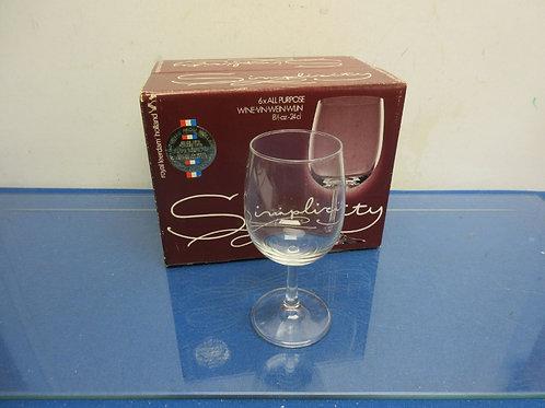 Set of 6 wine glasses-in box