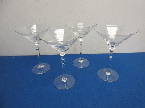 Food Network Set of 4 martini glasses - Modesto