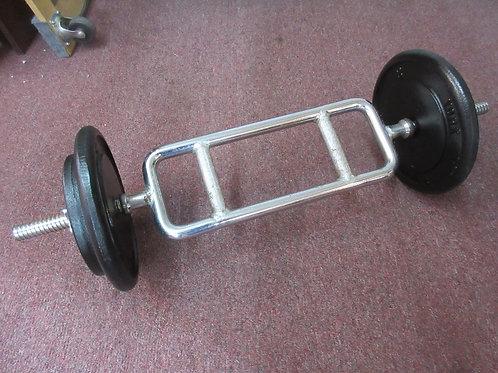 Cap tricep bar w/20lb & 10lb weights
