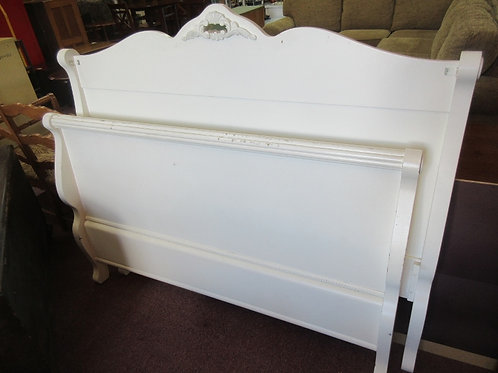 White full size sleigh bed-headboad, footboard, side rails