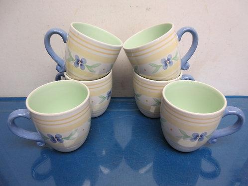 Pfaltzgraff Summer Breeze set of 6 large mugs