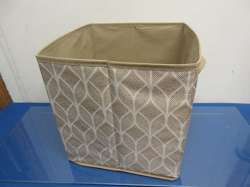Canvas cube beige & white design with handles 10x10x10""