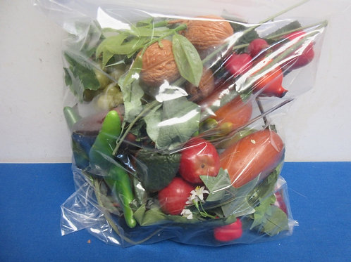 Small bag of artifical vegetables and foliage