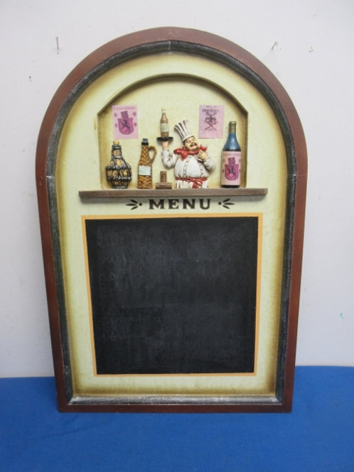 """Arched """"menu"""" chef design blackboard"""
