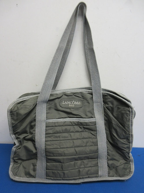 Gray tote bag, many compartments