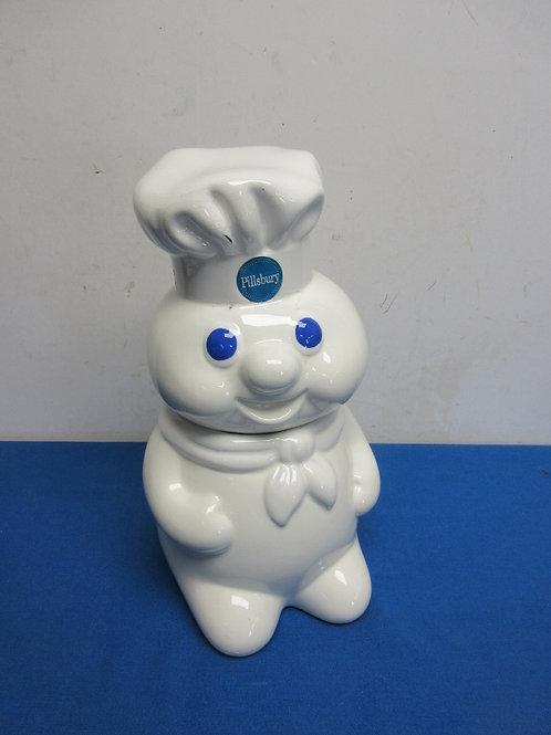 "Pillsbury dough boy cookie jar - 12"" - repaired crack"